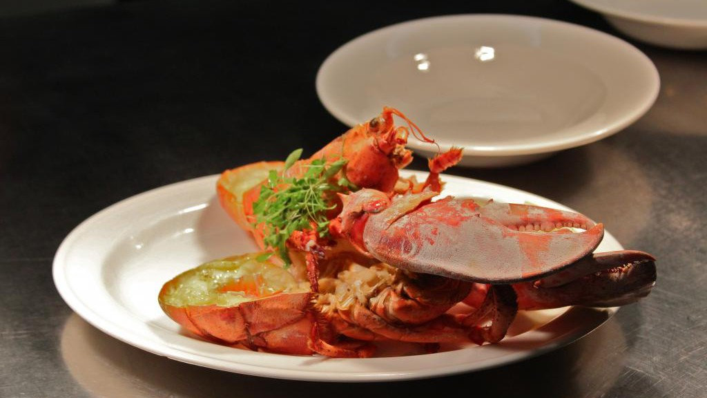 A dish of garlic lobster
