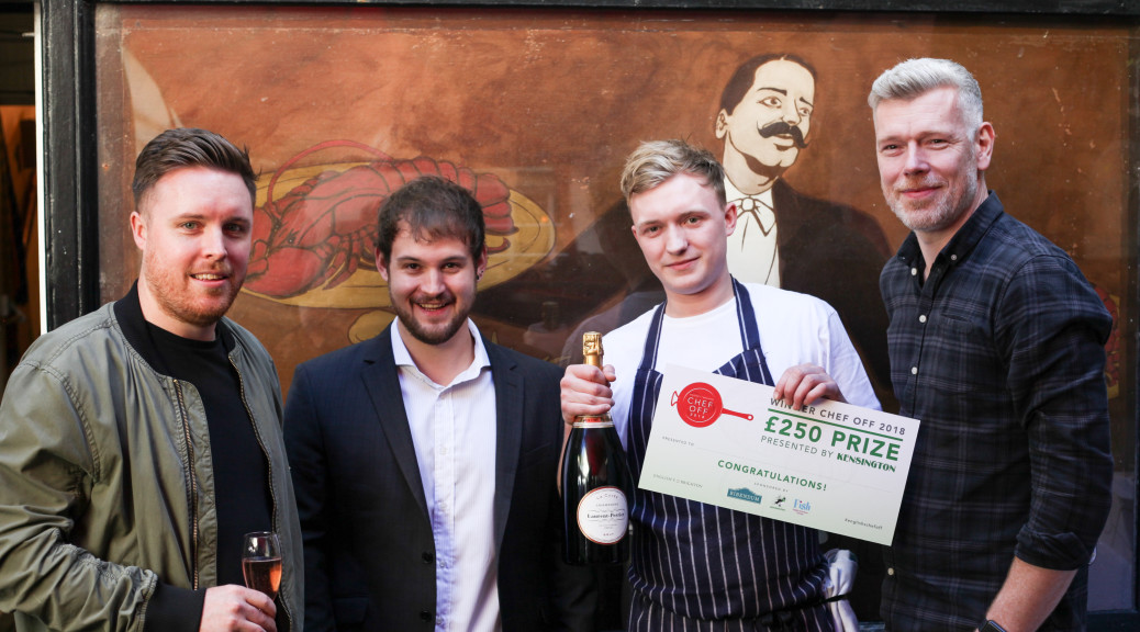 Winner Tristan Conway-Grim with the judges