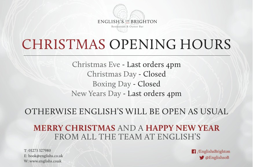 Opening hours for English's
