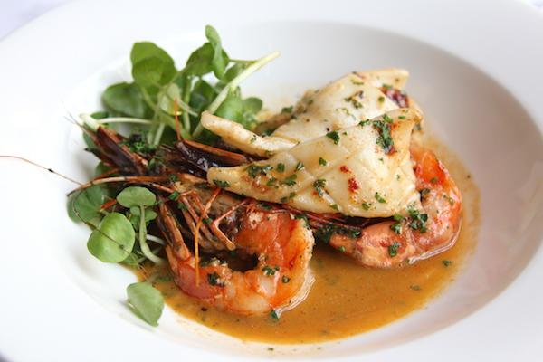 Prawn and calamari paprika dish