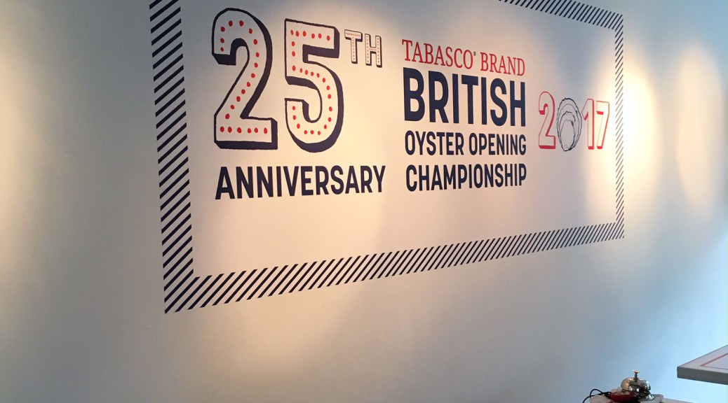 Sign with 25th National Oyster Opening Competition