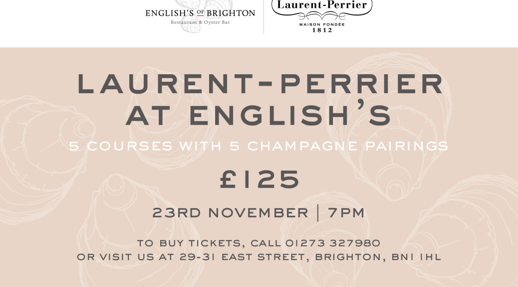 Laurent-Perrier at English's poster